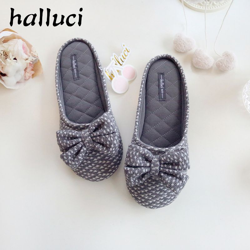 2017 Cute Bowtie Home Slippers Women House Shoes Girls For Bedroom ...