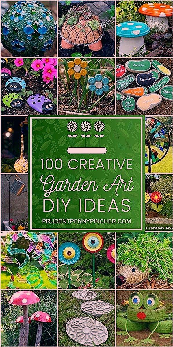 Photo of 100 Creative DIY Garden Art Ideas