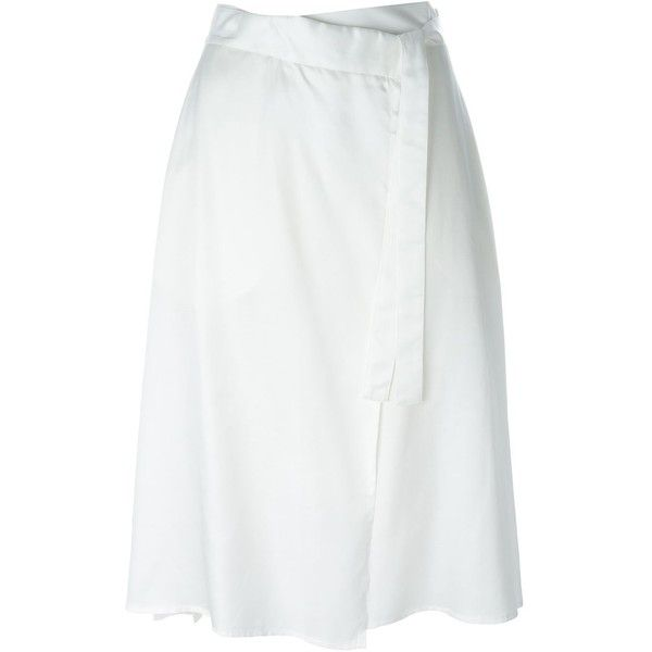 Mm6 Maison Margiela asymmetric wrap skirt ($165) ❤ liked on