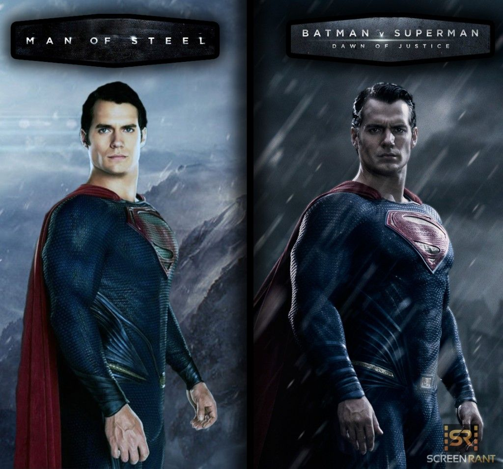 Here S A Mashup Of Henry Cavill S Superman Costumes Man Of Steel Costume Vs Batman Batman V Superman Dawn Of Justice Batman Vs Superman Superman Costumes
