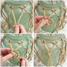DIY Sea Glass Rope Lantern - A Wonderful Thought