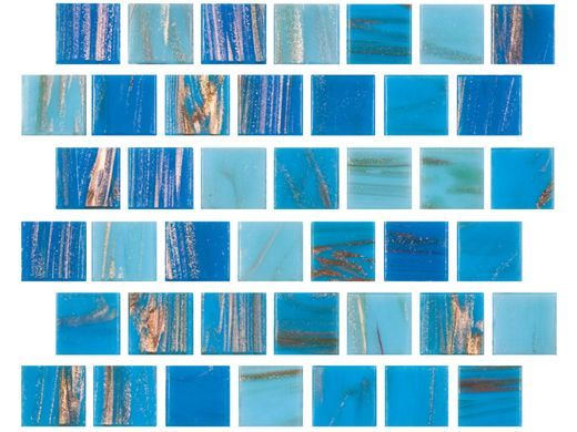 Turquoise Tile national pool tile canyon gems 1x1 glass tile |turquoise| 201-022
