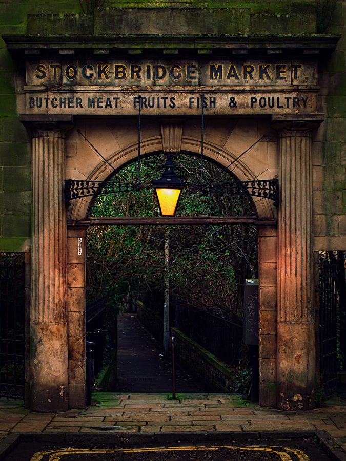 The Original Entrance Archway To The Old Stockbridge Market