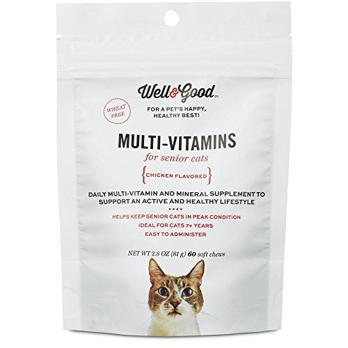 Well Good Multi Vitamin for Senior Cats 60 ct ** Click on