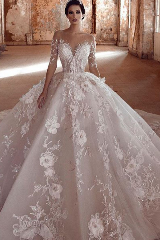 luxury wedding dress bridal gown  Kleid hochzeit, Brautkleid