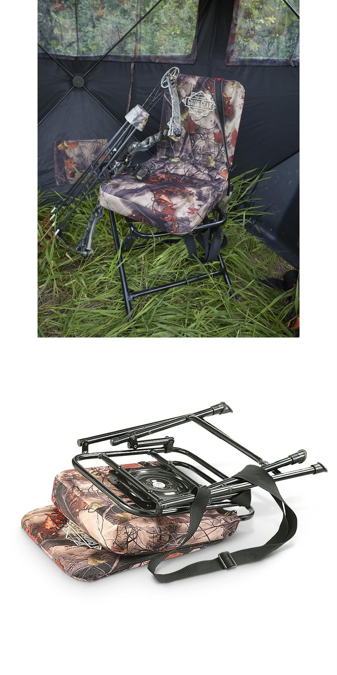 Seats and Chairs Hunting Chair 360 Swivel Hunters Camo Seat