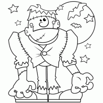 Halloween Monster Halloween Coloring Page Free Coloring Page Template Printing Printable H Halloween Coloring Sheets Monster Coloring Pages Halloween Coloring