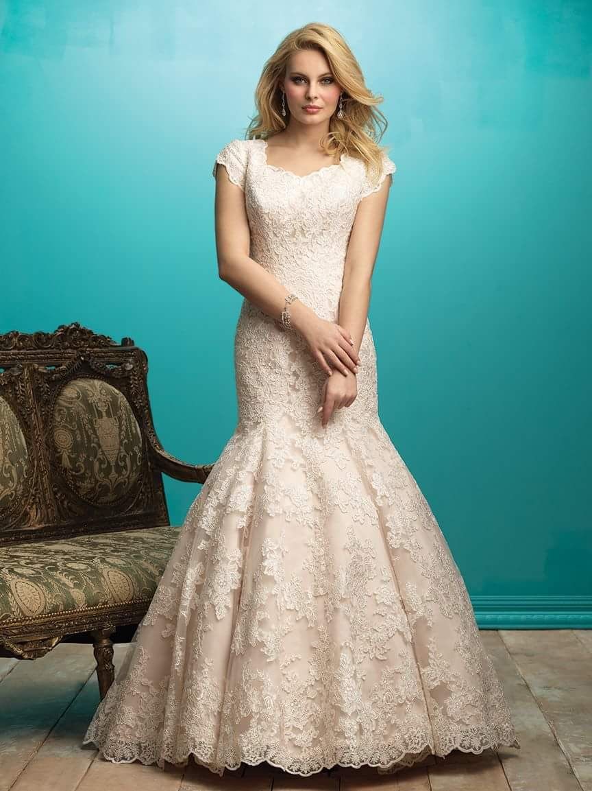 Petals and promises modest wedding dresses with sleeves