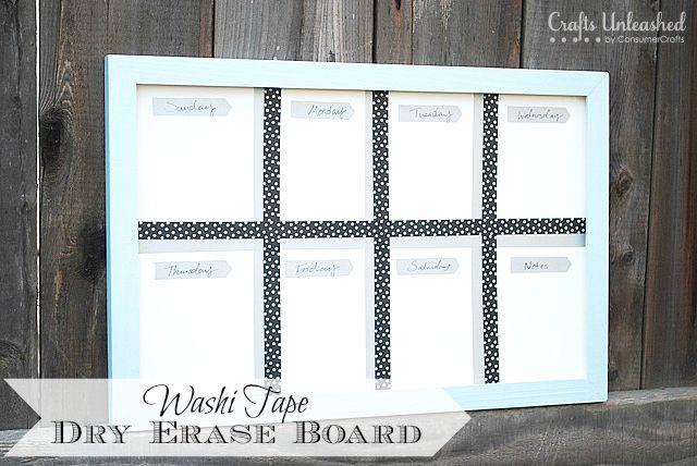 Washi Tape Diy Dry Erase Board Mission Organizing The