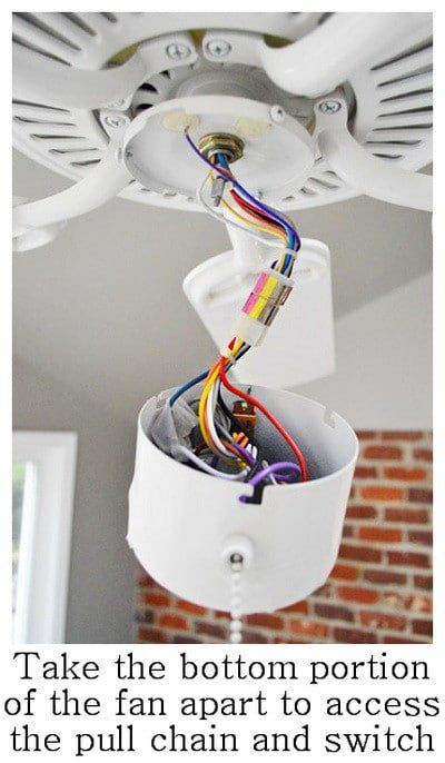 How To Fix A Ceiling Fan Light Switch Pull Chain Diy