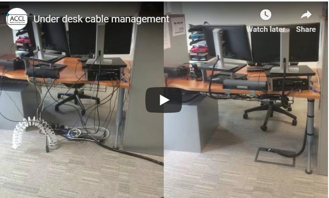 Under Desk Cable Management Services Cable Management Desk