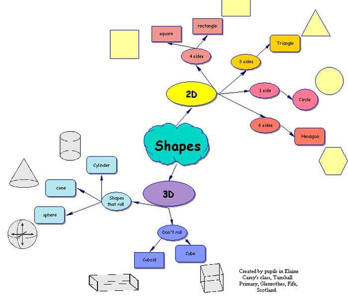 Basic Site Map Example: 2d, 3d Shapes, Mind Map Examples