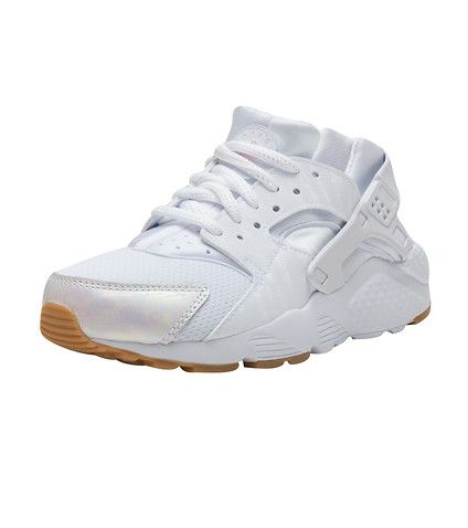 NIKE Huarache Run sneaker Kid's low top sneaker Mesh toe box for  ventilation Premium leather accente.