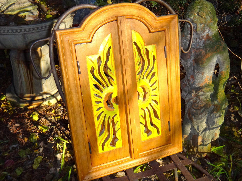 Arched Mirror, Sunburst, Shutter Mirror, Wood Mirror, Boho Chic ...