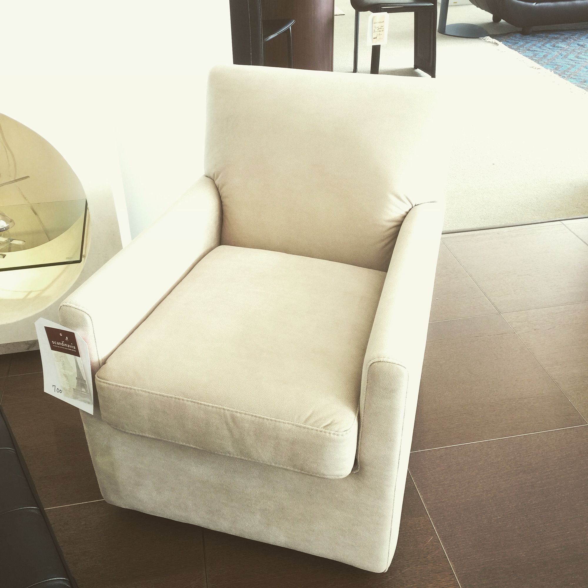 Scandinavia inc New Orleans Metairie Louisiana Pia fabric swivel chair