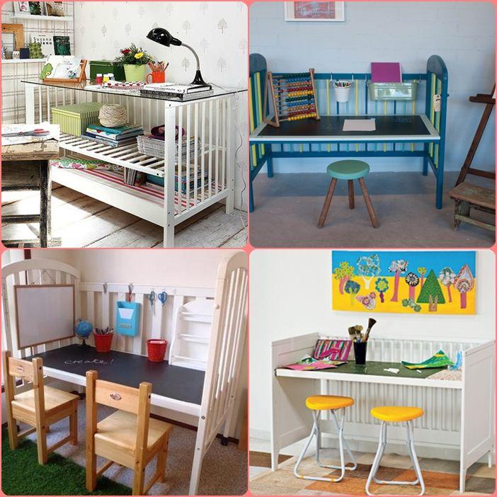 Convertir Cuna en mesa | Para niños | Pinterest | Mesas ...