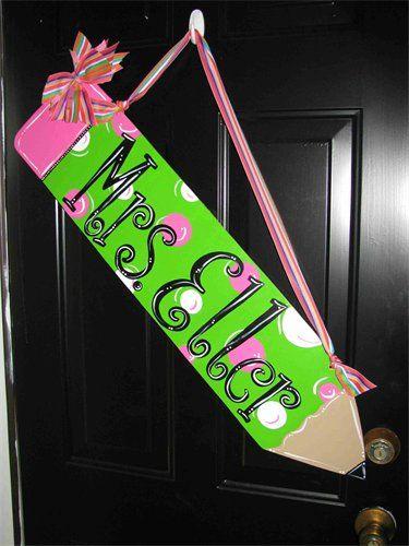 Love the pencil!  Let's Take Notes Door Hanger : $45