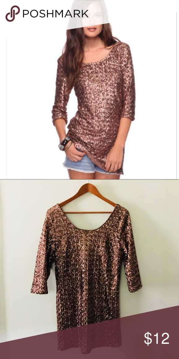 Holiday Sale Forever 21 Sequin Dress Tunic Short Mini Dress Forever 21 Sequin Dress Clothes Design