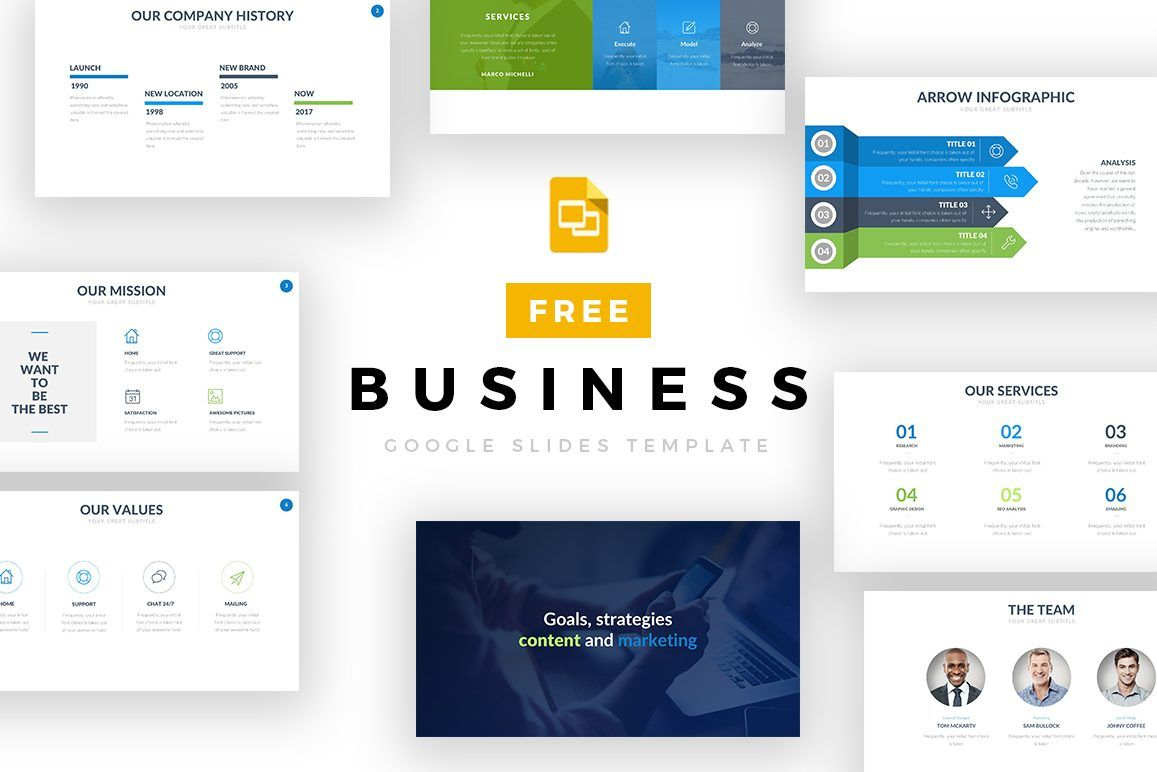Free Business Google Slides Template Google Templates Pinterest