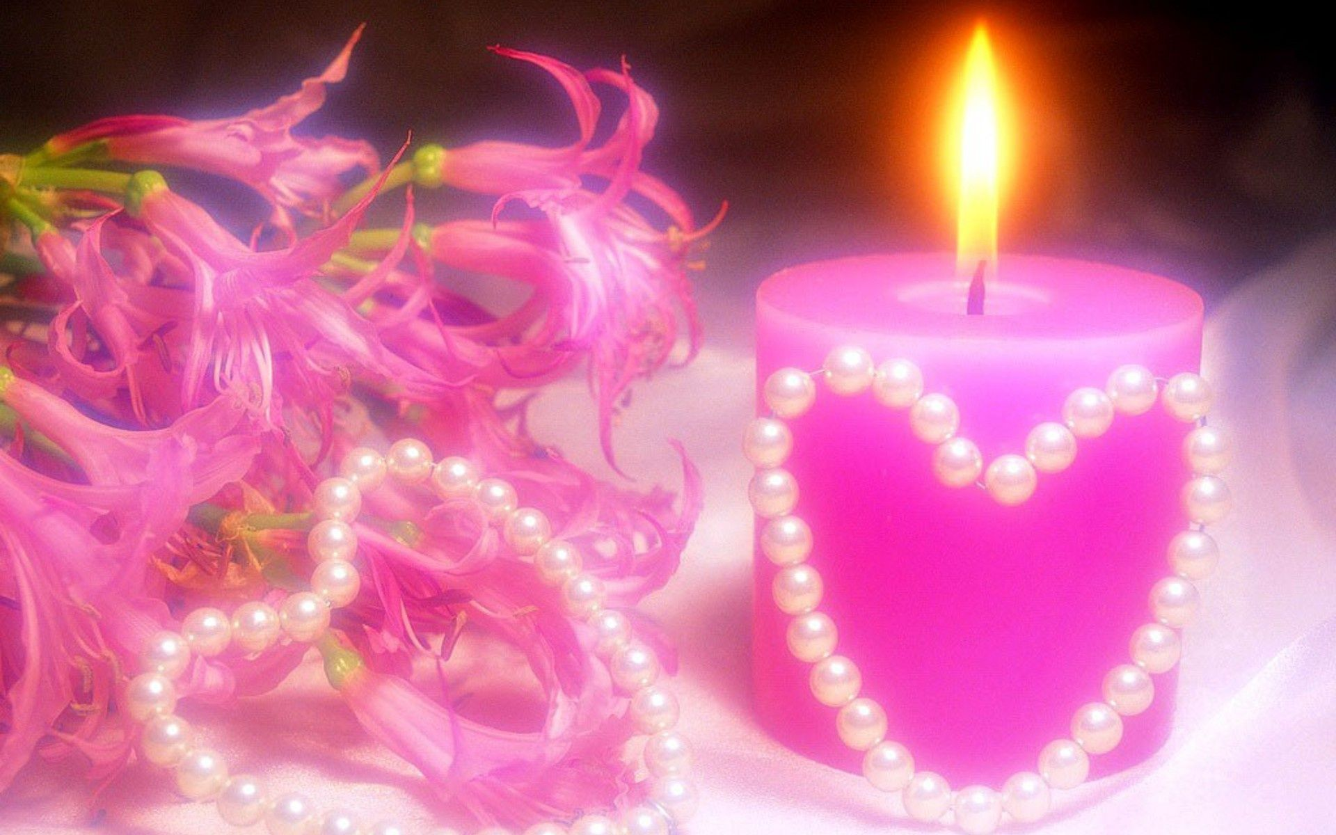 3 Beautiful Heart Candle 3 Romantic Candles Pink Candles