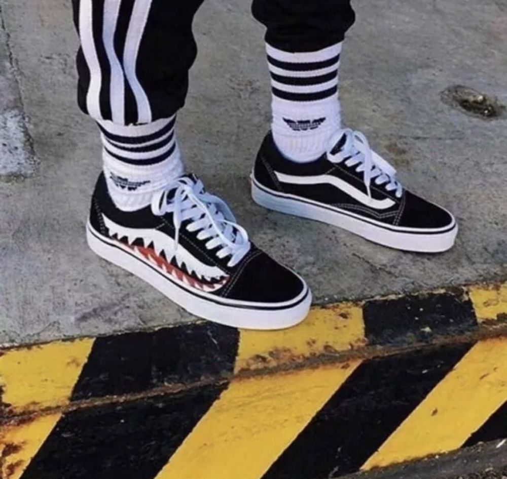 001a0b1ab1 MENS VANS OLD SKOOL BAPE CUSTOM BLACK  fashion  clothing  shoes   accessories  mensshoes  athleticshoes (ebay link)