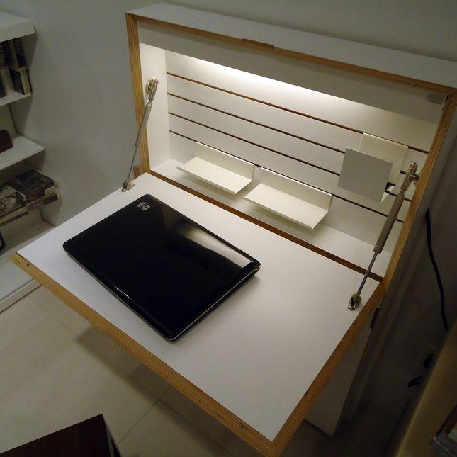 Love This Space Saving Desk @ Http://resourcefurniture.com/node/541 (via  Dwell.com)