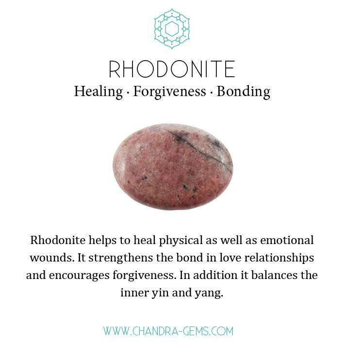 Rhodonite gemstone healing properties #crystalhealing