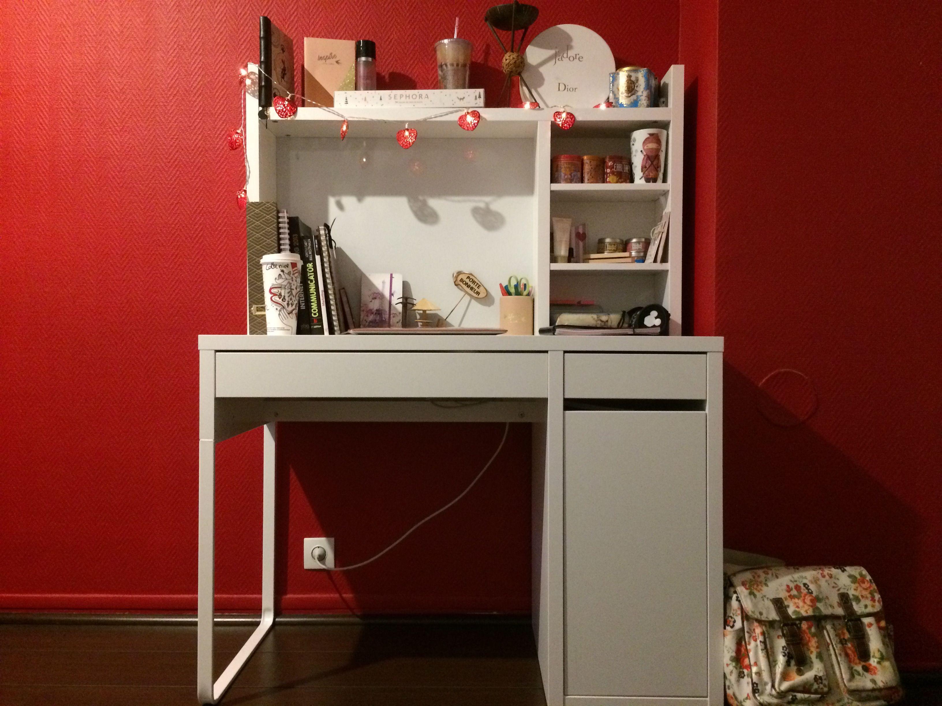 Mon bureau ikea avec ma petite déco maison du monde nature et