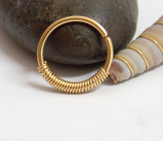 Small gold nose hoop , 14k Gold Filled 22 -18 Gauge Nose Ring ,gold nose ring,14k gold nose ring, si #nosering
