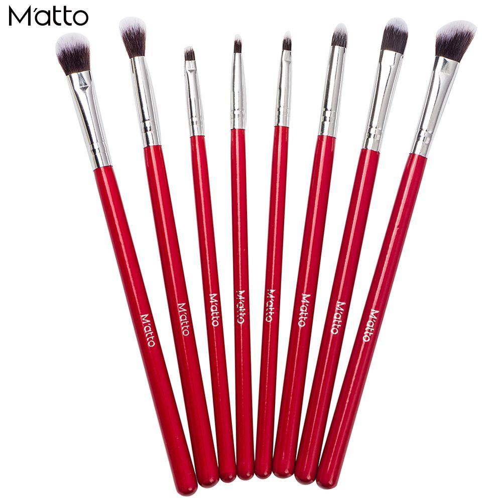 Matto Eye Makeup Brushes 8 Pcs Professional Makeup Brush Set Cosmetics Eyeliner Eyeshadow Make Up Tools Beauty Pencil Brush Kits-in Makeup Brushes & Tools from Health & Beauty on Aliexpress.com | Alibaba Group