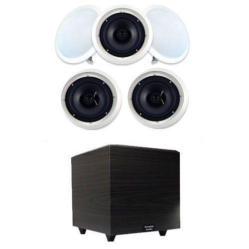 Acoustic Audio Sp8c 5 8 Home Surround Sound Speakers W 10