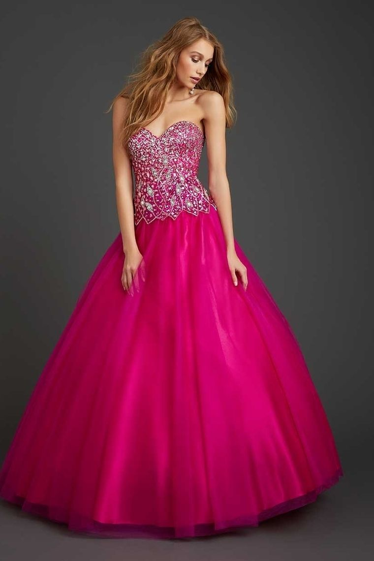 Hot pink color dress   Quinceanera Dresses New Arrival A Line Sweetheart Floor Length