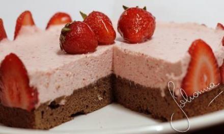 Torta Mousse de Frutillas   Recetas de Johanna Prato