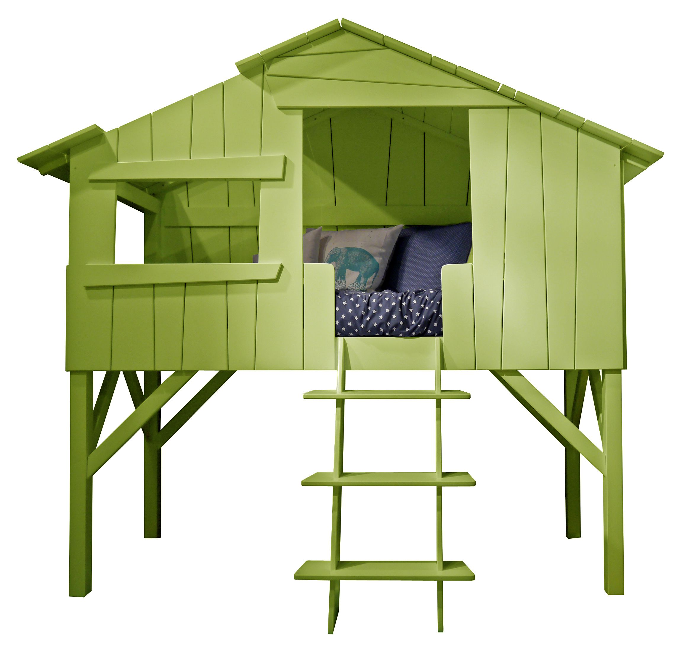Kids treehouse bunk bed cool kids bed awesome kids bed for Treehouse toddler bed