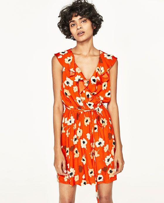 2a841b10c08 Image 3 of FLORAL PRINT CROSSOVER DRESS from Zara Zara No Reino Unido, Zara  Nos