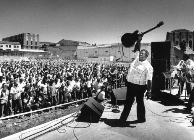 BB King May 25, 1986 at San Quentin Prison