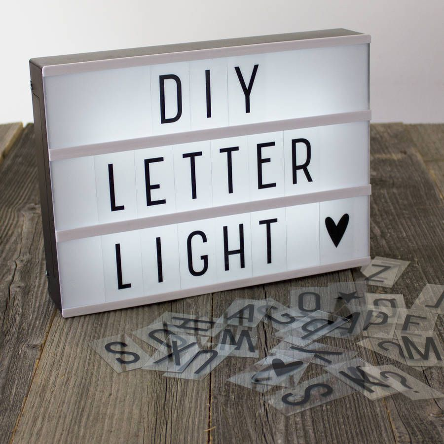 A4 Diy Letter Light Box Lamp , Free Delivery