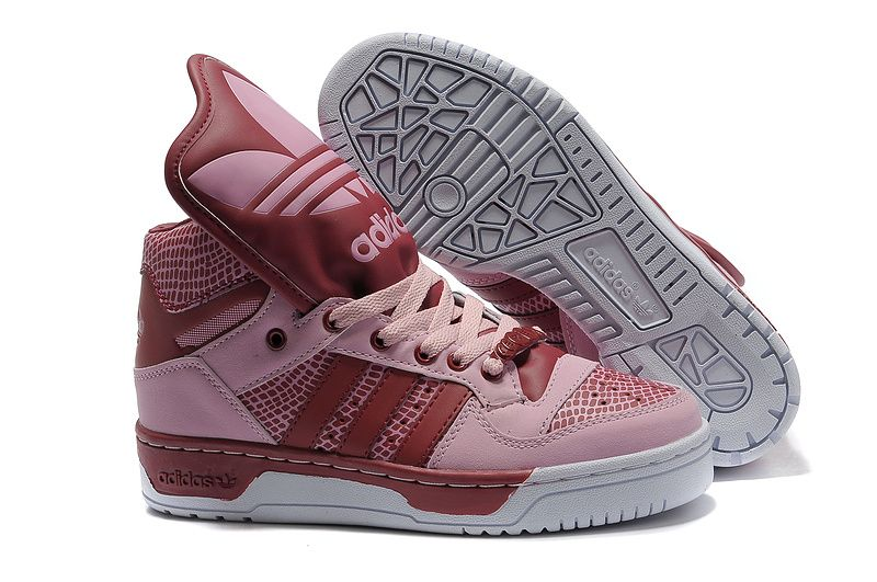 Adidas Pink Red Jeremy Scott Js Logo Shoes Sale Events