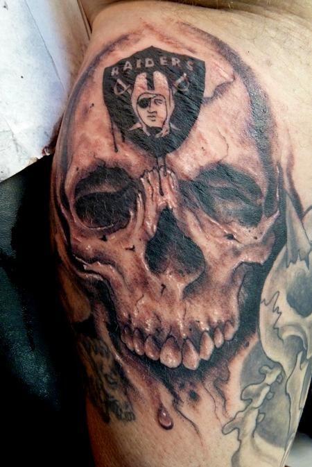 Raiders Skull Tattoo : raiders, skull, tattoo, Oakland, Raider