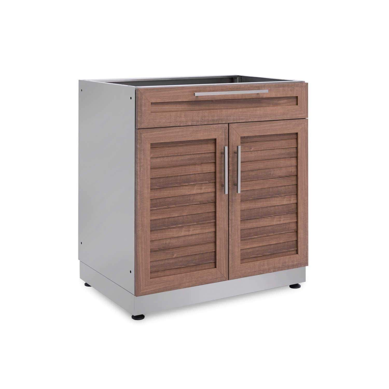 Newage Products Newage Outdoor Kitchen Grove Stainless Steel 32 Bar Cabinet 65603 Outdoor Kitchen Cabinets Outdoor Kitchen Bars Outdoor Kitchen Design