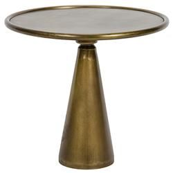 Tiana Hollywood Regency Brass End Table   15.5 Inch | Kathy Kuo Home