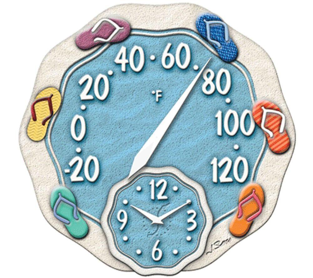 12 Quot Flip Flops Sandal Beach Decor Outdoor Deck Pool Clock