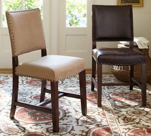 Manchester Chair | Pottery Barn. Clean straight lines for ...