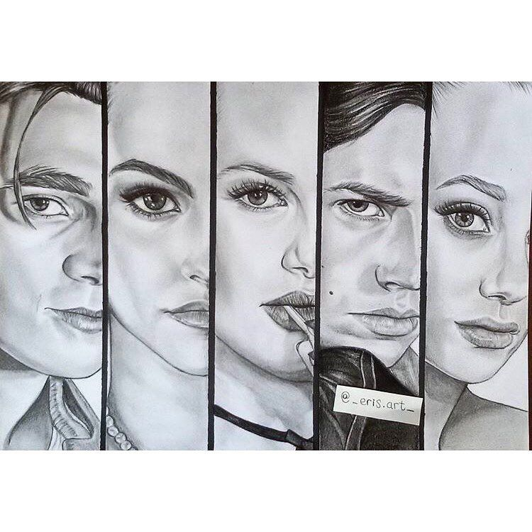 Pin by Erin Taylor on Art in 2019 | Riverdale characters ...