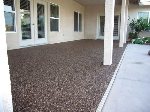 Charmant Pebble Epoxy Patio Flooring   With This One You Could Make The Sunken Area  Deeper