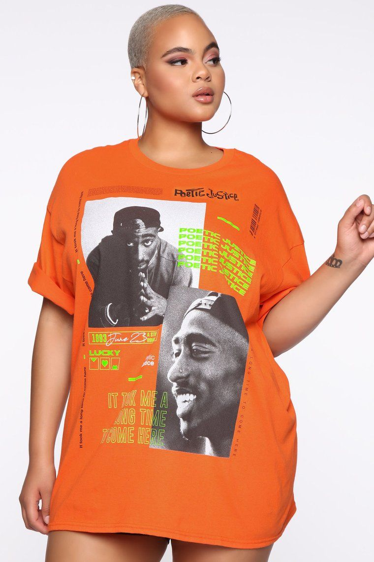 You Can Get It Top Orange Graphic Tees Fashion Nova Mens Graphic Tee Tupac Shirt Fashion Nova Outfits