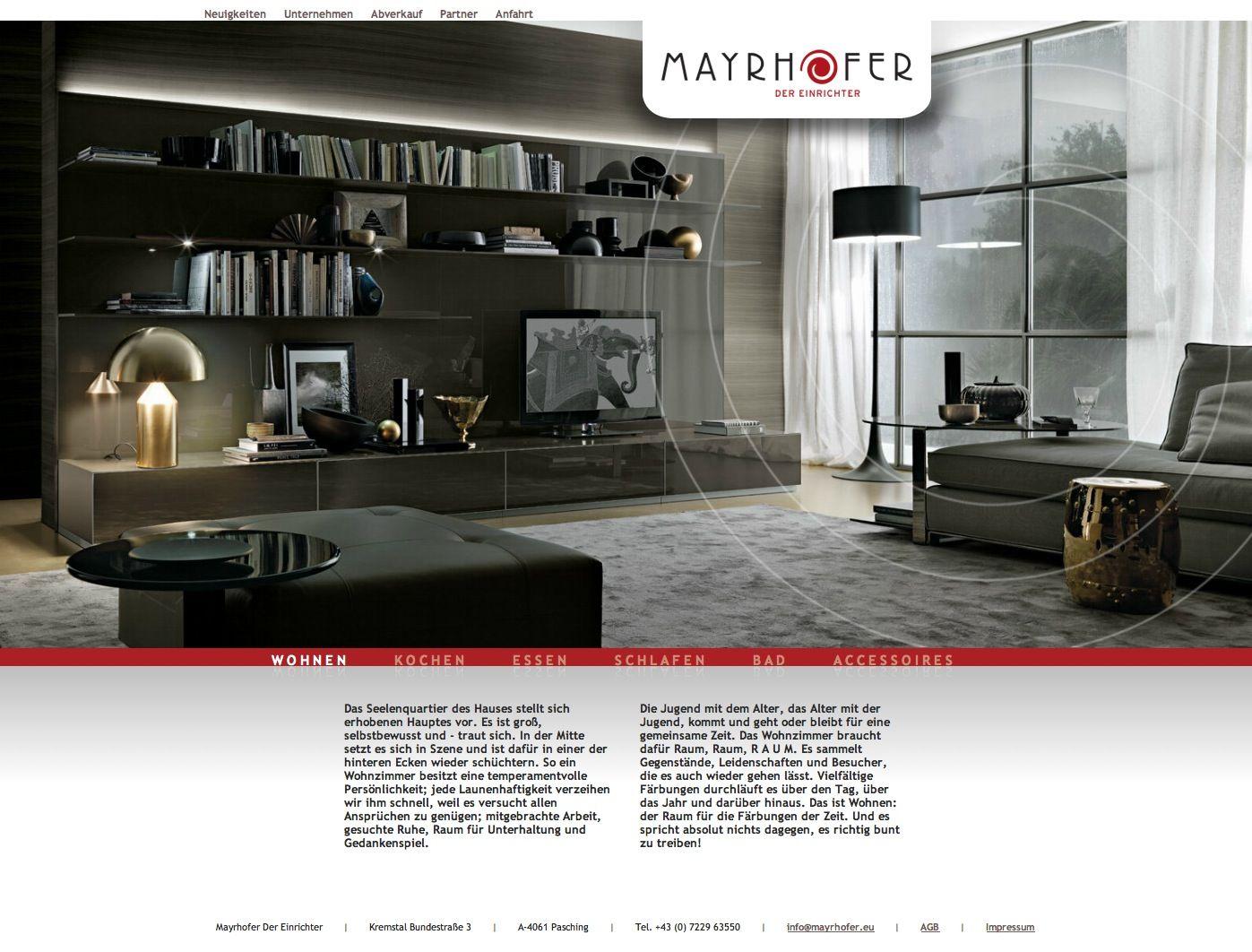 Webdesign by www.rotwild.it - Webseite unter: www.mayrhofer ...