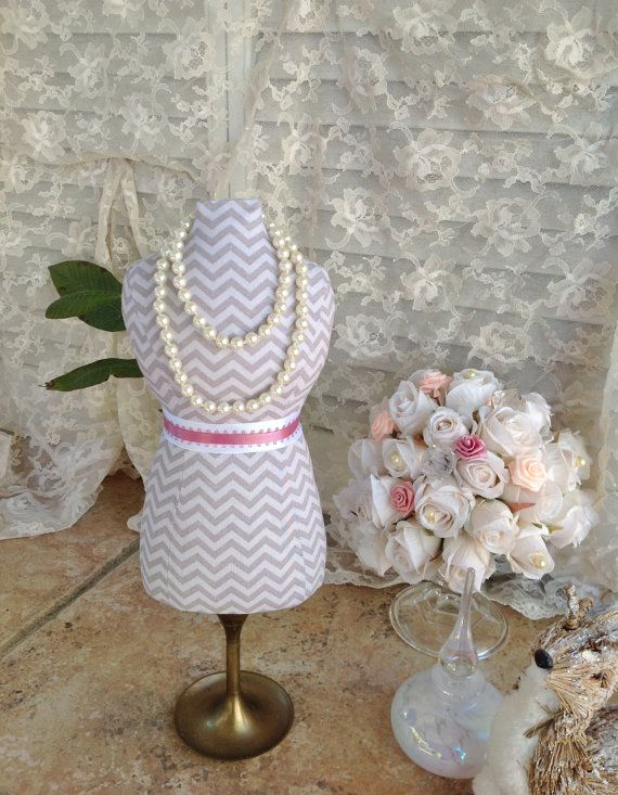 Necklace Holder Mannequin Dress Form Jewelry Stand Fabric Bust