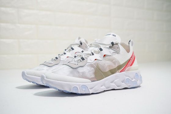 329f7a5de5c1 Nike React Elet 87 Sail Light Bone White Rush Orange Aq1090 100 Authentic  Sneaker