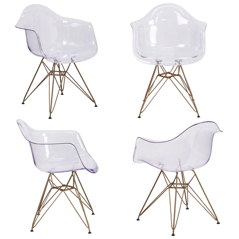 Flash furniture fh132cpc1gg allure transparent clear